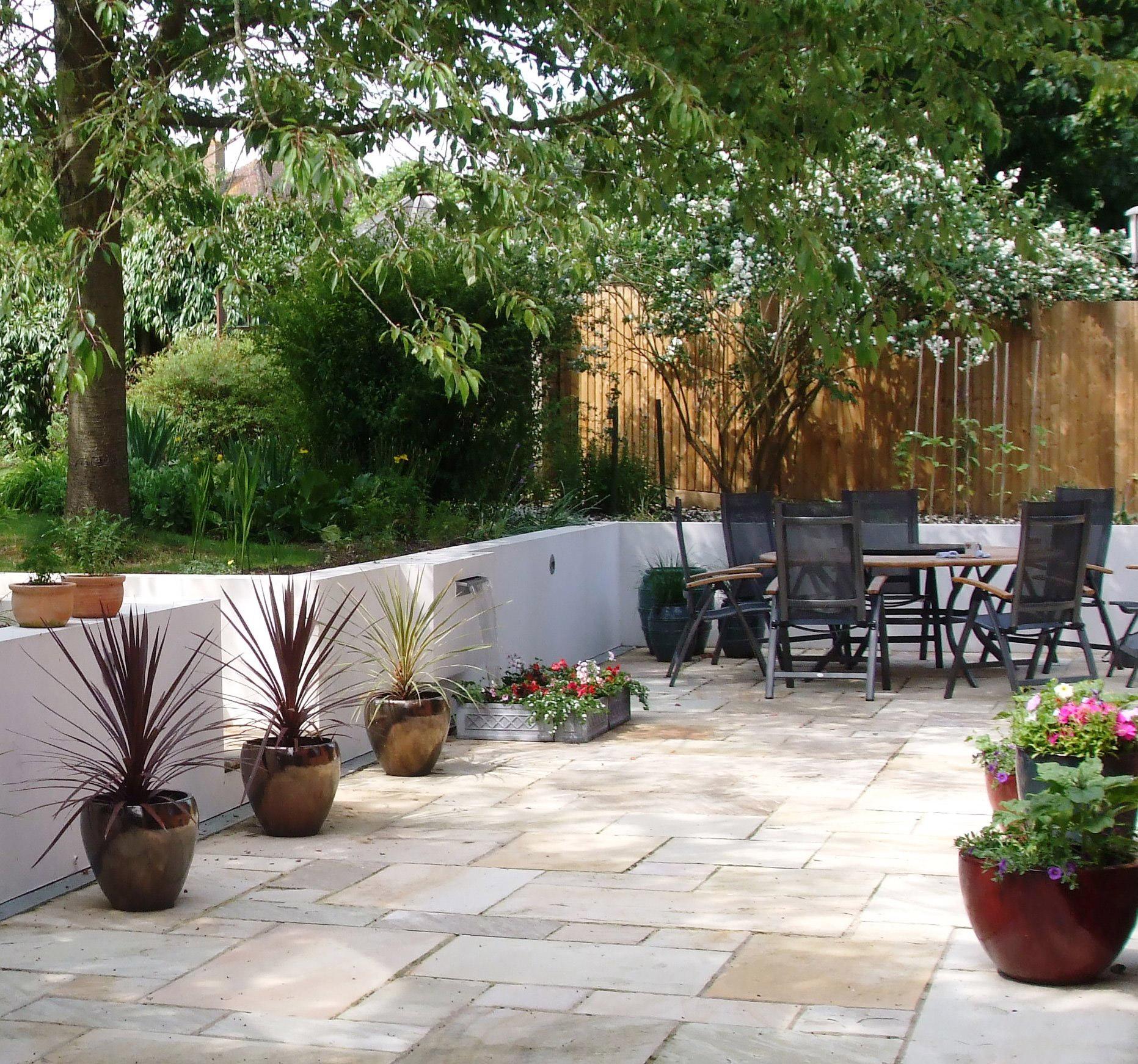 A Mediterranean Family Garden Plot Garden Design